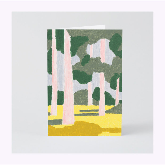 Wrap Pink Forest Card