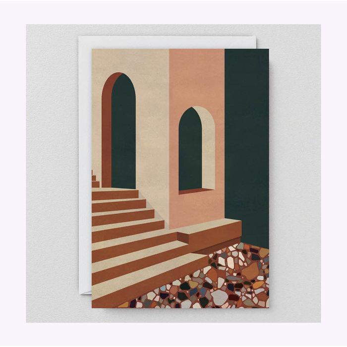 Wrap Terracotta Terrazzo & Stairs Card