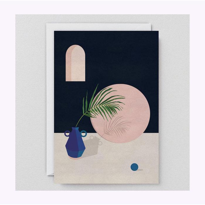 Carte Vase Bleu Wrap
