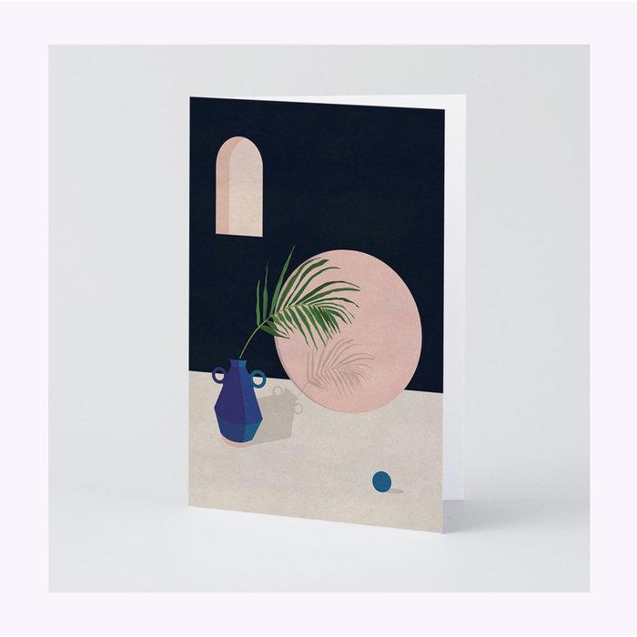 Wrap Blue Vase Card