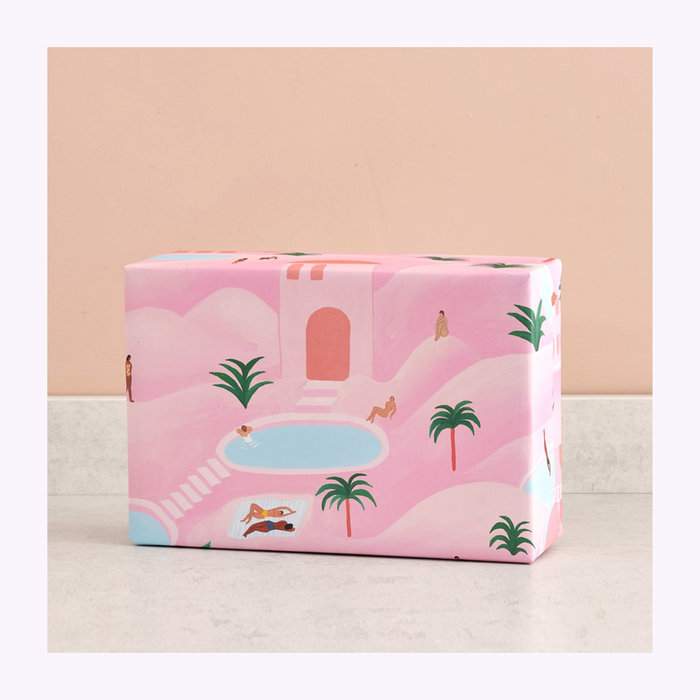 WRAP Wrap Desert Oasis Wrapping Paper