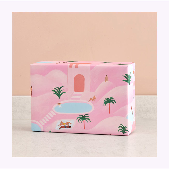 Wrap Desert Oasis Wrapping Paper