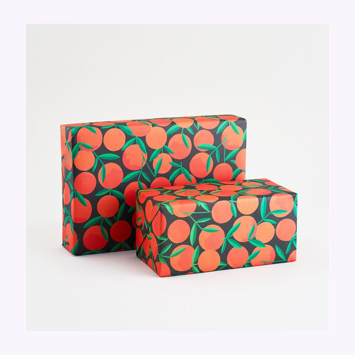WRAP Wrap Clementines Wrapping Paper