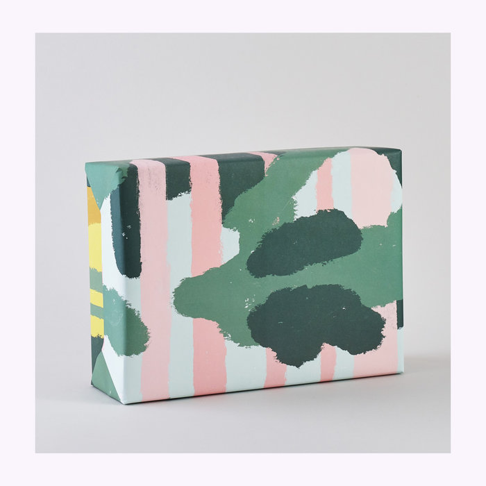 WRAP Magazine Wrap Pink Forest Wrapping Paper