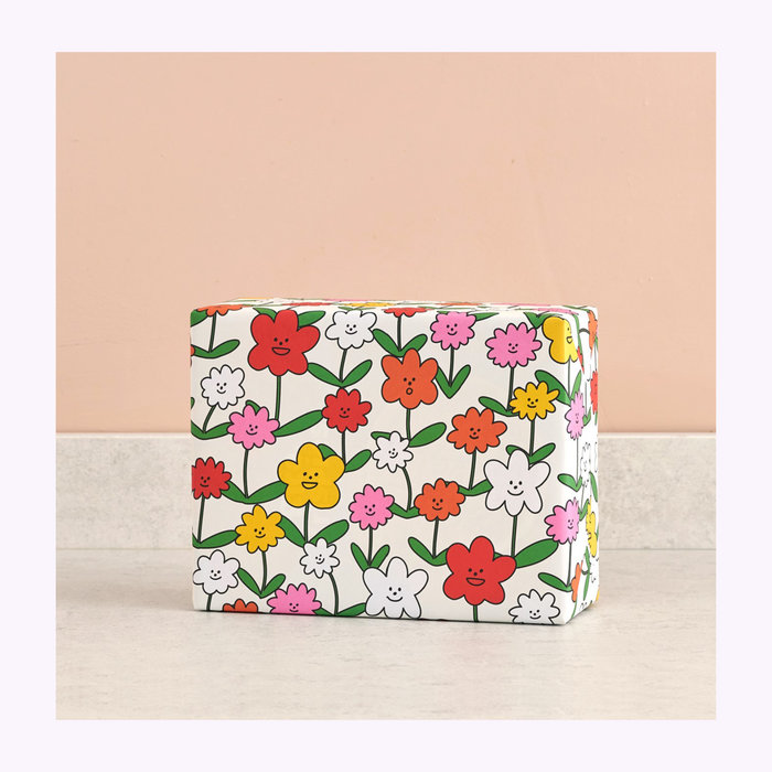 WRAP Magazine Wrap Happy Flowers Wrapping Paper