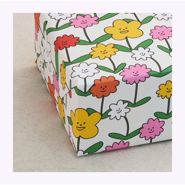 Wrap Happy Flowers Wrapping Paper