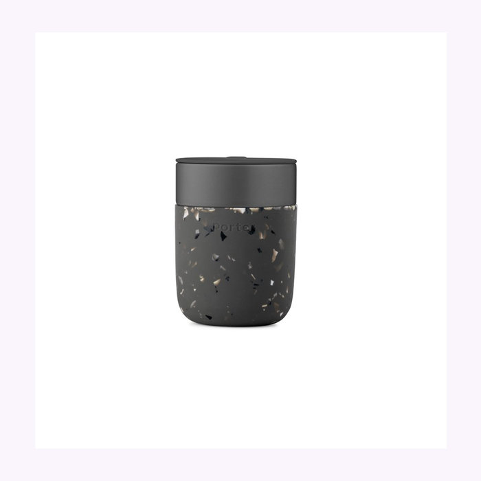 W&P W&P Charcoal Terrazzo Travel Cup 12oz