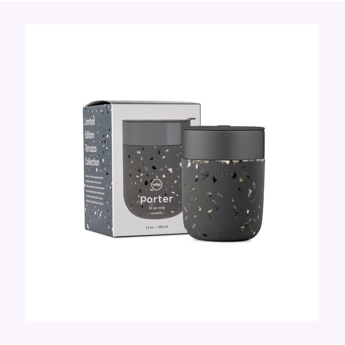 W&P Charcoal Terrazzo Travel Cup 12oz