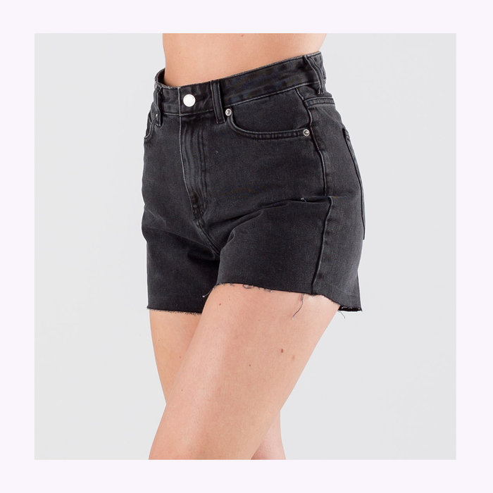 Dr Denim Shorts Nora Dr Denim Charcoal Black