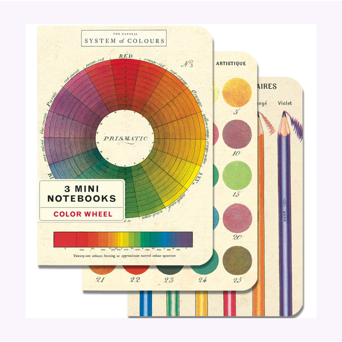 Cavallini Color Wheel Notebooks - Set of 3