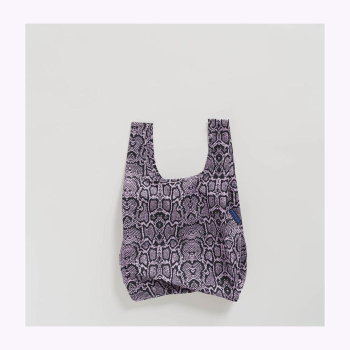 Baggu sac réutilisable Baby Baggu Pink Snakeskin Reusable Bag