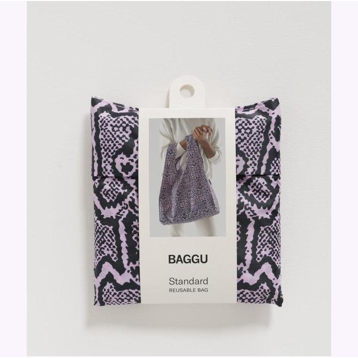 Baggu Pink Snakeskin Reusable Bag