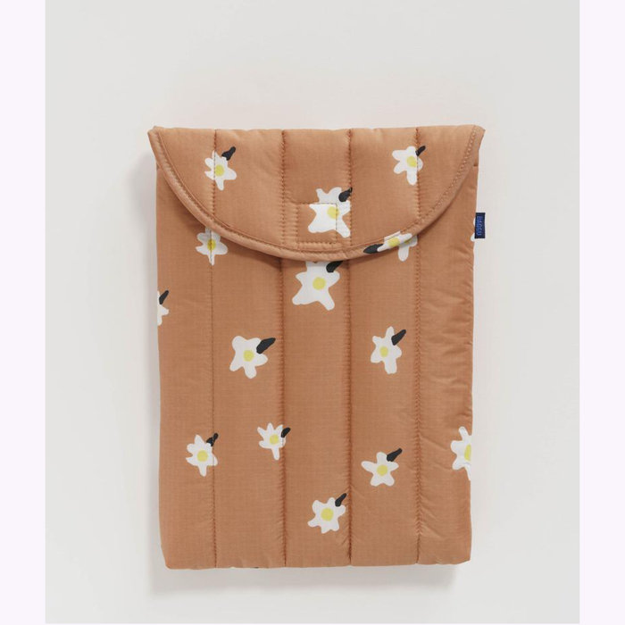 """Baggu pochette Baggu Painted Daisies Puffy Laptop Sleeve 13"""""""