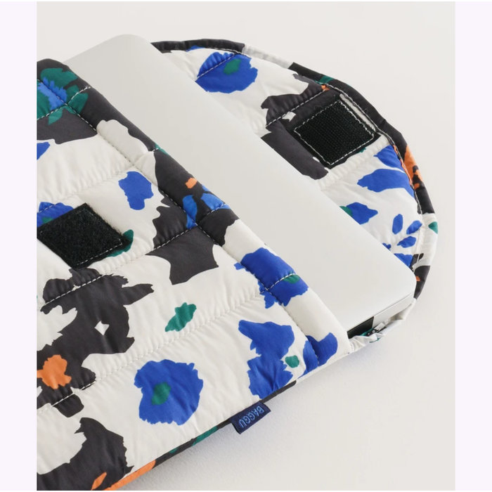 Baggu Litho Floral Puffy Laptop Sleeve 13""