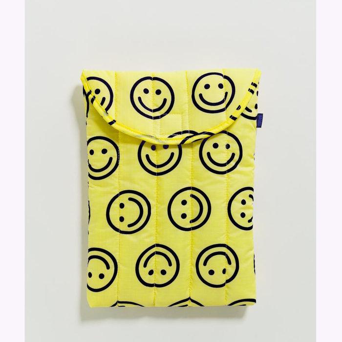 "Baggu pochette Baggu Happy Yellow Puffy Laptop Sleeve 13"""