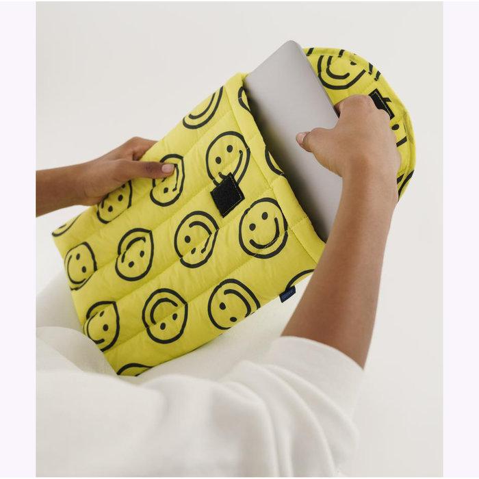 Housse pour ordinateur Baggu Happy Yellow 13po
