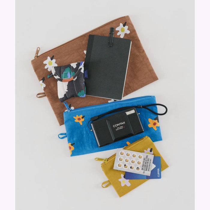 Baggu pochette Baggu Painted Daisies Pouch L (Brown)