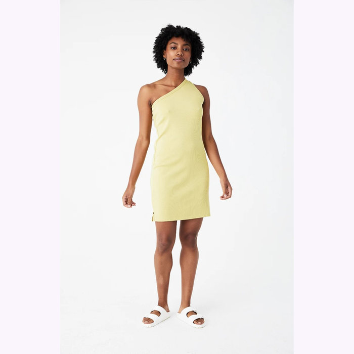 Back Beat co. Back Beat co. Lime Hemp Cher Rib Dress