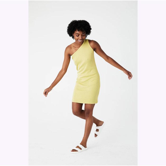 Back Beat co. Lime Hemp Cher Rib Dress