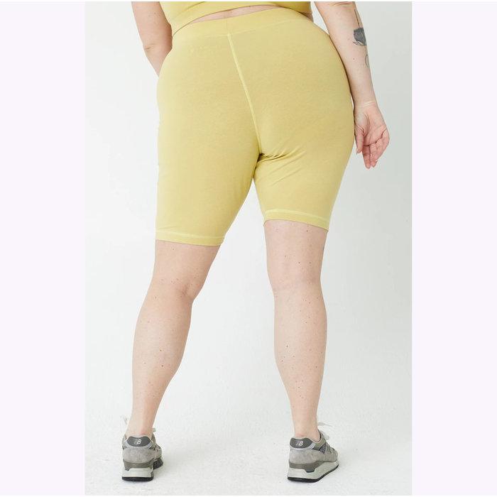 Back Beat co. Lime Organic Cotton Bike Shorts