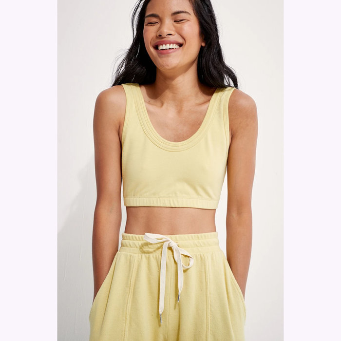 Back Beat co. Back Beat co. Lime Organic Cotton Double Band Bralette
