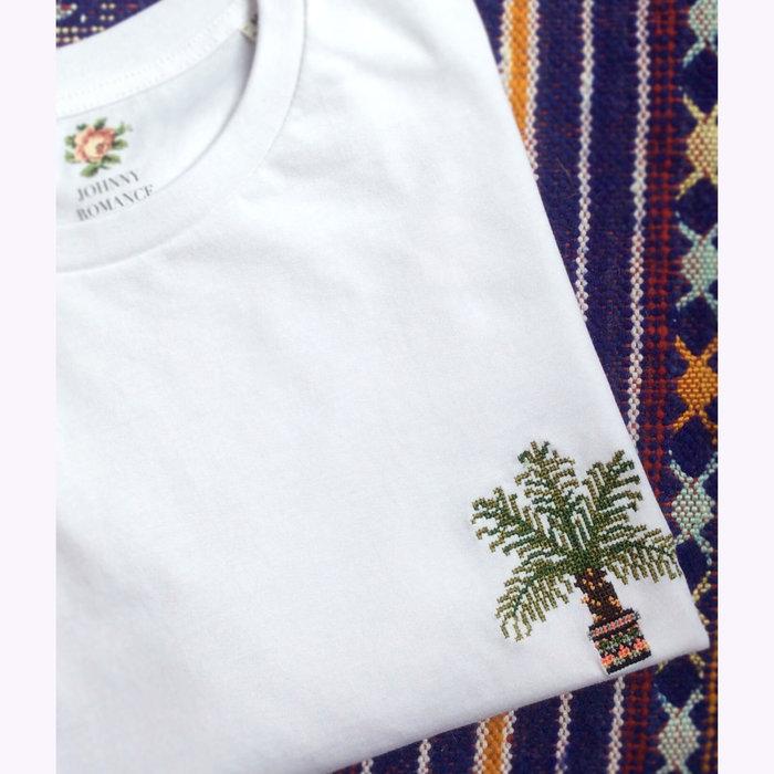 Johnny Romance Johnny Romance White Palm Tree T-Shirt