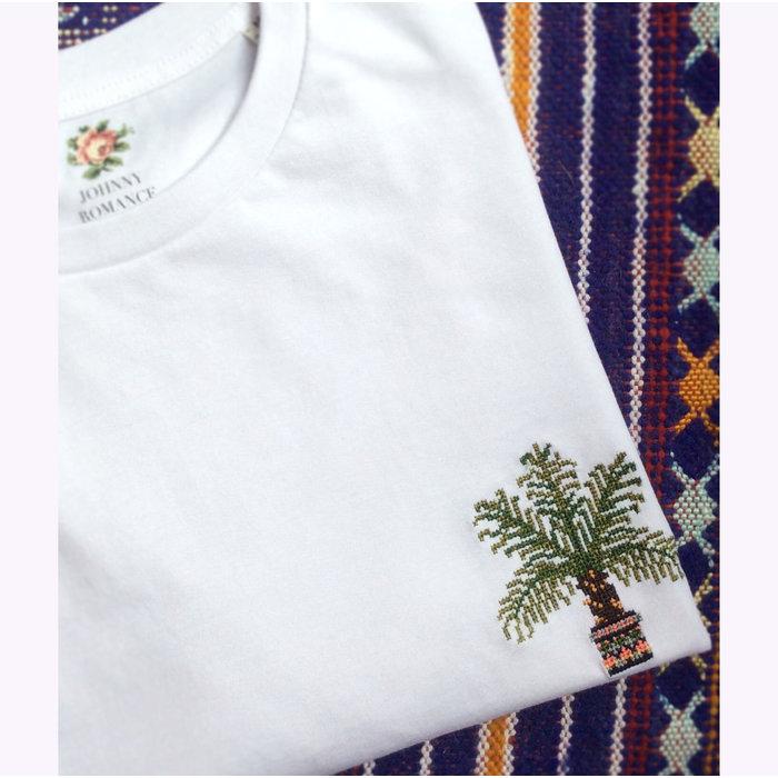 Johnny Romance White Palm Tree T-Shirt