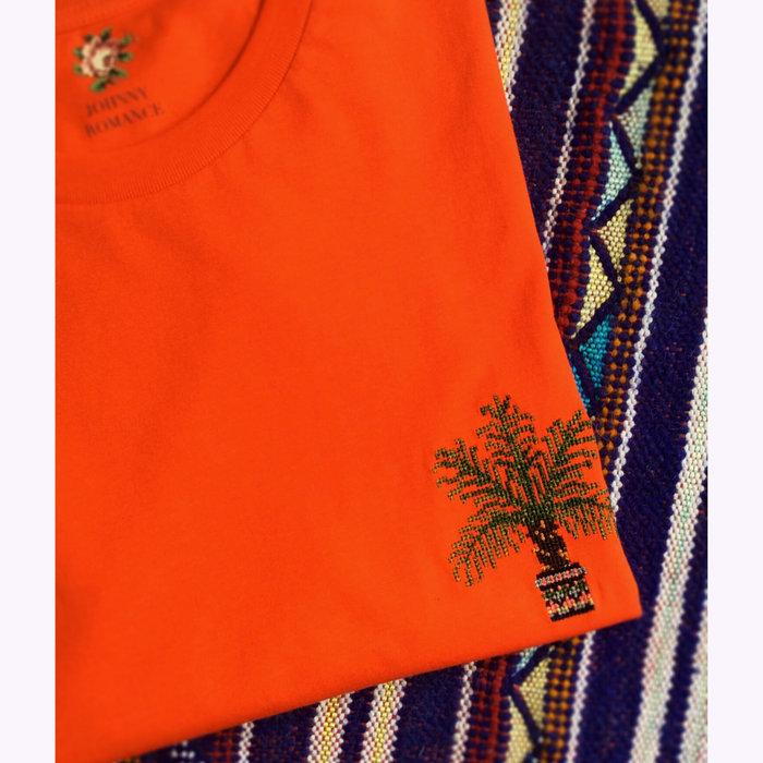 Johnny Romance T-shirt Palmier Orange Sanguine Johnny Romance