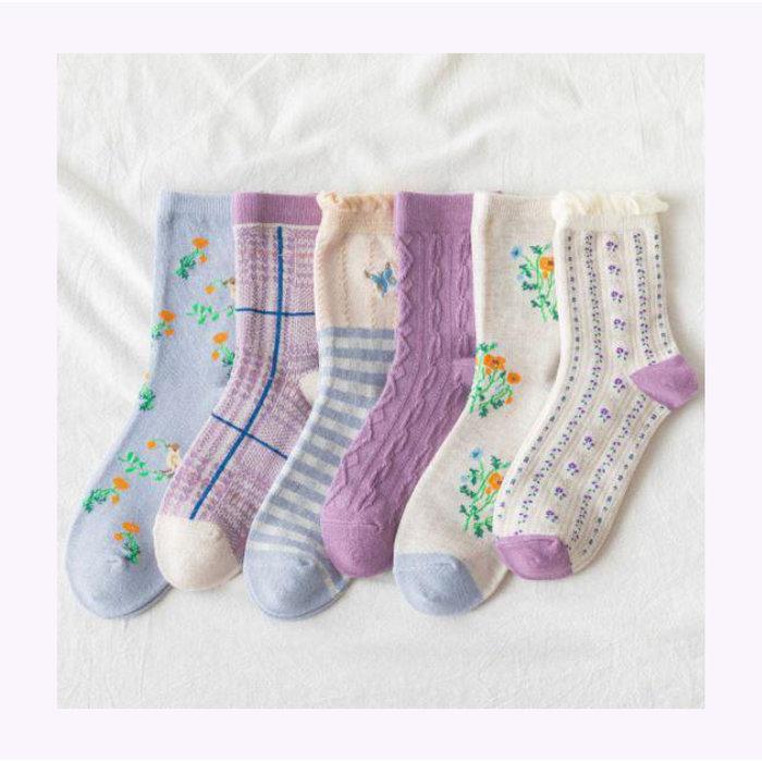 Rainbow Unicorn Sakura Socks