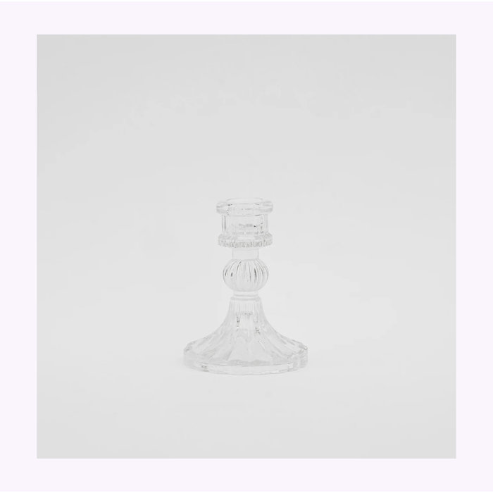 Clear Glass Candle Holder A