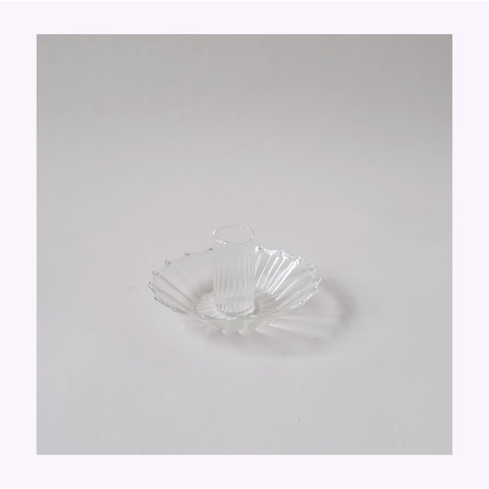 Small Clear Glass Candle Holder A