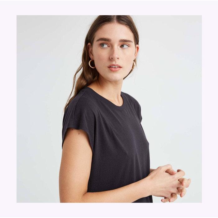 Robe T-shirt Noire Richer Poorer