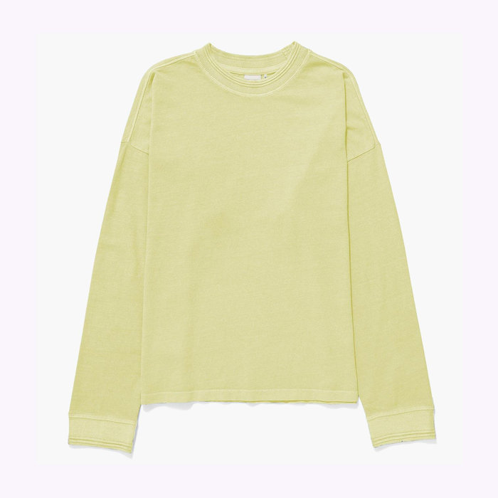 Richer Poorer Richer Poorer Pale Green Relaxed Long Sleeve Tee