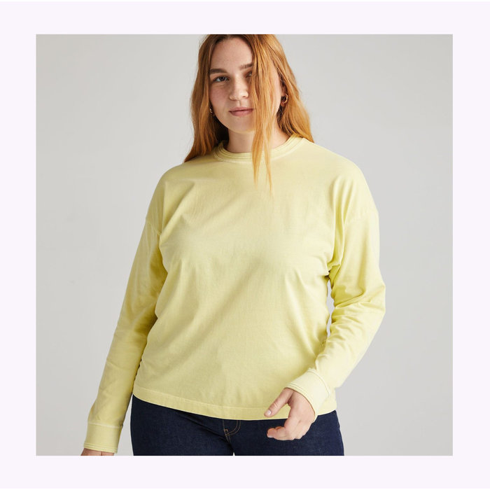 Richer Poorer Pale Green Relaxed Long Sleeve Tee