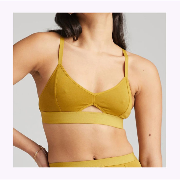 Richer Poorer Golden Verde Cutout Bralette