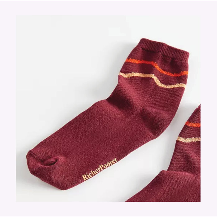 Chaussettes Waved And Confused Fig Richer Poorer