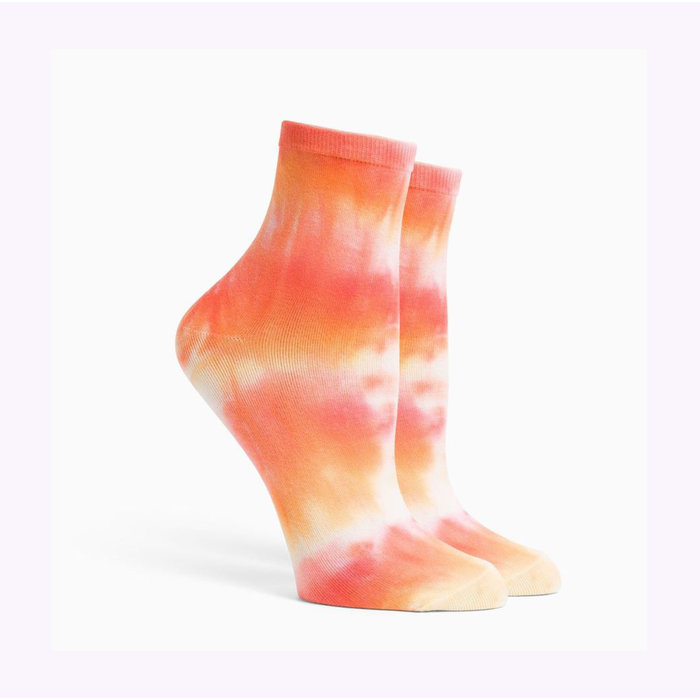 Richer Poorer Flamingo Shibori Socks
