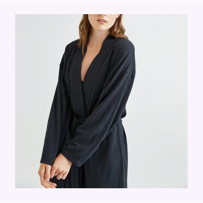 Richer Poorer Stretch Limo Cloud Weave Robe Coat