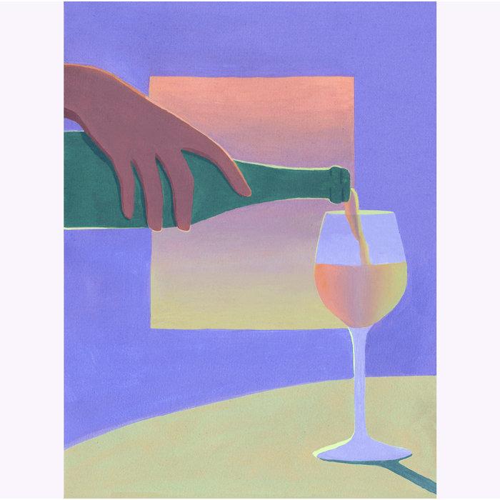 Holly Stapleton Vino Print