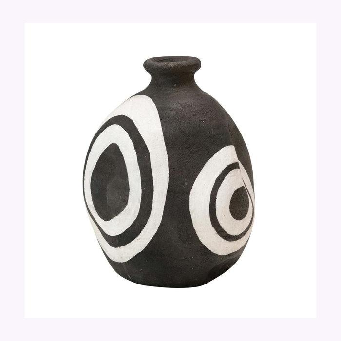 Bloomingville Vase Noir et Blanc Bloomingville