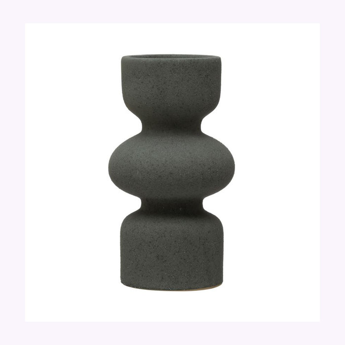Bloomingville Bloomingville Matte Grey Candle Holder