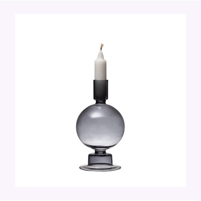 Bougeoir-Vase couleur Fumée Bloomingville
