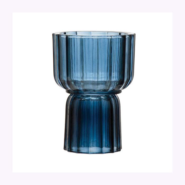 Bloomingville Bloomingville Blue Reversible Vase