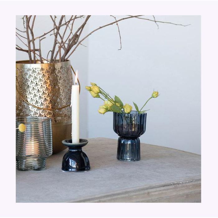 Bloomingville Blue Reversible Vase