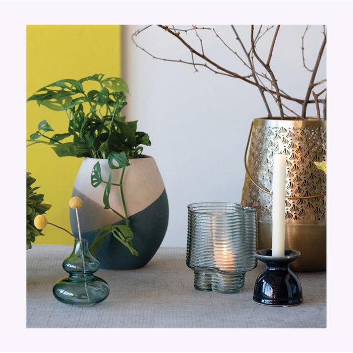 Vase moulé Vert Bloomingville