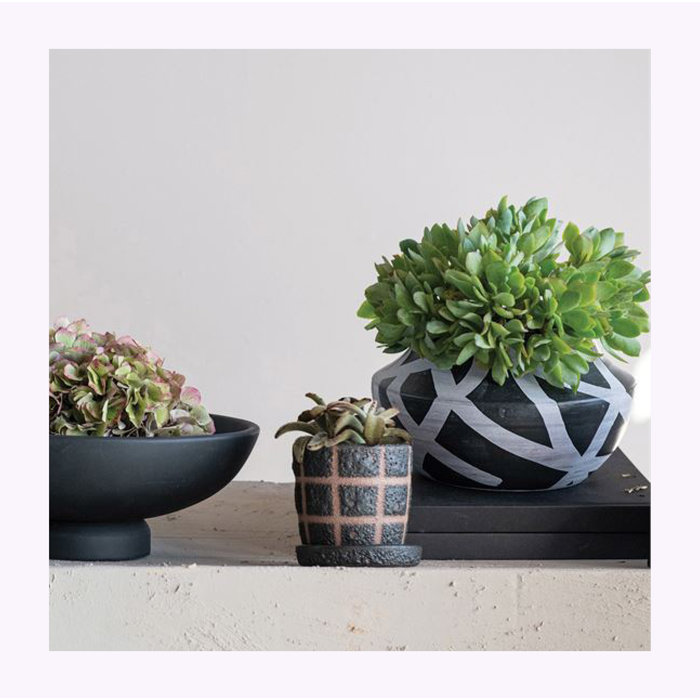 Bloomingville Black Grid Planter