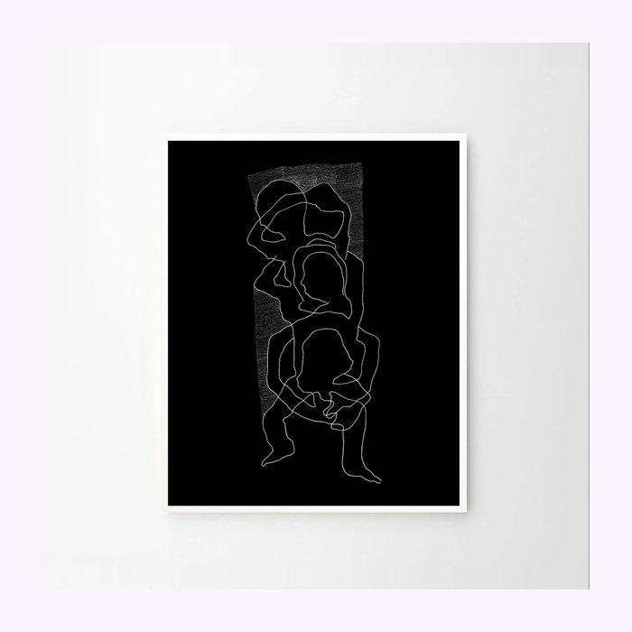 Bello Affiche Intricare Noir 8x10 Anne-Marie Gratton