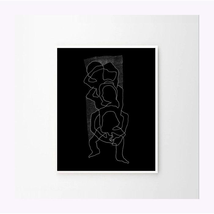 Affiche Intricare Noir 8x10 Anne-Marie Gratton