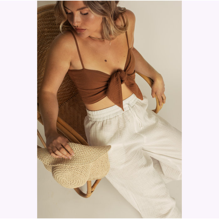 Dailystory White Hollie Pants