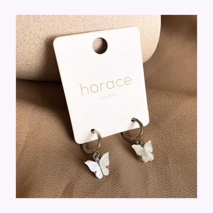 Boucles d'oreilles Tefla Blanc Horace